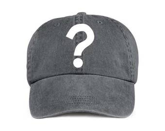 QUESTION MARK Funny Humor Baseball Style Cap Hat Vinyl Print