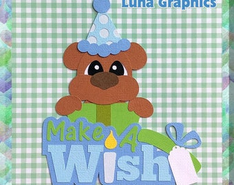 MAKE A WISH 2 Embellishments Paper Piecing card making and scrapbooking