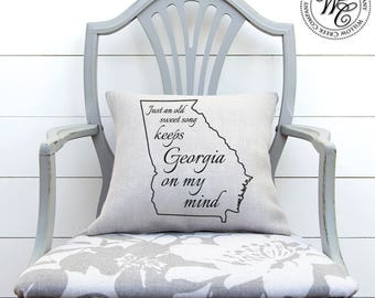 Georgia Bulldogs, UGA, University Of Georgia, Georgia Pillow, Georgia Home  Decor,