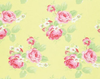 Tanya Whelan for Free Spirit - LOLA COLLECTION - Lola Roses is Yellow - Cotton Fabric