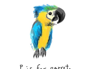 P is for Parrot Print