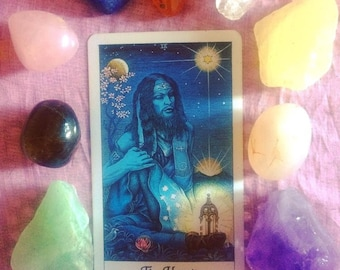 Cosmic Tarot Card Reading, Divination, Intuitive Reading using Crystals