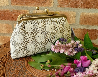 Wedding Accessories, Clutches and Evening Bags,  Mother of the Bride Purse, Prom Purse, Evening Purse, Lace Purse, Lace Clutch bag