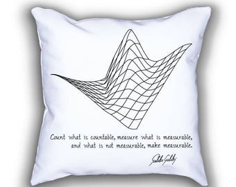Galileo and Waveform throw pillows