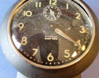 Small Old Westclox Baby Ben Alarm Clock for Parts, Repairs, Steampunk Art