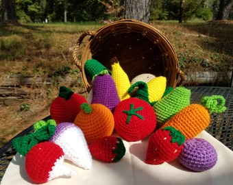 Crochet Fruits and Veggies Mix and Match