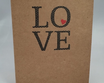 Polka Dot Love card