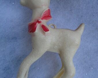 Vintage Hard Plastic Rudolph Christmas Ornament, Rudolph, Rudolph Ornament, Christmas Ornament, Red Nose Reindeer,  Red Nose Rudolph