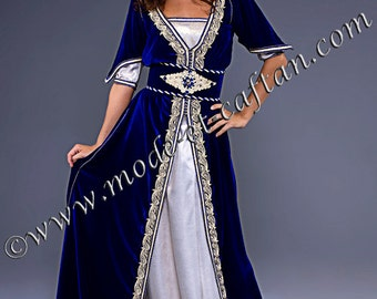 Caftan Romane, a distinguished and romantic dress by fashion and design Caftan
