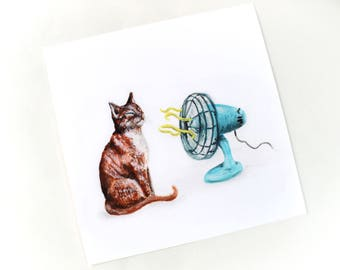 Cool Cat Giclee Print