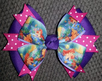 Ariel Little Mermaid Boutique Bow