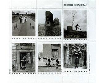 Scenes of Paris by Robert Doisneau Artistamps (Faux Postes) - Mail Art - France - Stickers - Seals