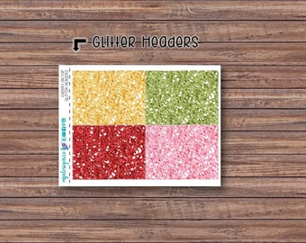 Cherry on Top Glitter Header Stickers | ECLP | Happy Planner | Recollections Planner