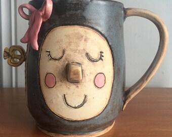 Steampunk robot mug