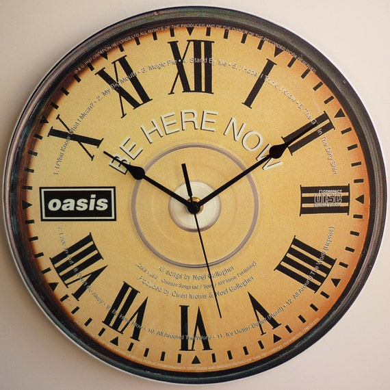 Be Here Now CD ART 12 Vinyl Record Wall Clock oasis