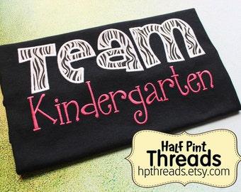 Team Kindergarten Embroidered Teacher Shirt, Kinder Teacher Shirt,  Elementary School Teacher Shirt, Teacher