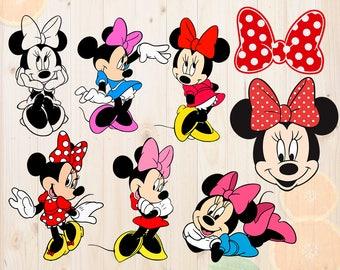 Minnie Mouse Svg, Minnie SVG files, Minnie Cut files, Minnie clipart, Minnie for Cricut & cutting machines, Minnie bow cut file, Minnie dxf