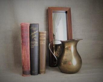 Rustic Brass Pitcher/Vase / Wedding Reception Decor / Home Decor / Very Vintage Brass Pitcher