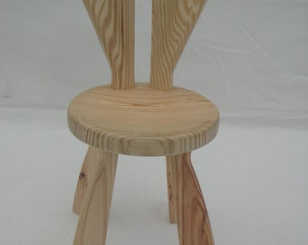 Kids' Chair,Bunny Chair,Custom woodworking design, playroom furniture, childrens furniture, Girls'Chair,Boys' Chair,Bunny Bench