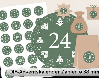 DIY Advent Calendar norwegian digital sheet green