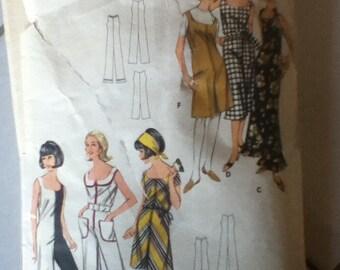 """Butterick Jumpsuit Pattern 3552  Size: 10, Bust  31"""", Waist  24"""", Hip  33"""""""