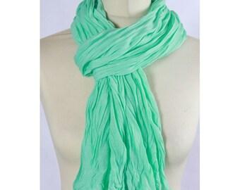 Plain pastel green scarf/shawl scarf