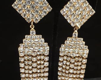 Vintage Earrings with Bling