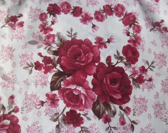 x 1 large and beautiful embroidery cotton patchwork white flower/heart 55 x 240 cm
