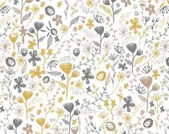 Girls Crib Bedding - Gold Grey Yellow Nursery /Boho Changing Pad Covers /Bohemian Floral Nursery Baby Bedding /Mini Crib Sheets / Cot Sheets