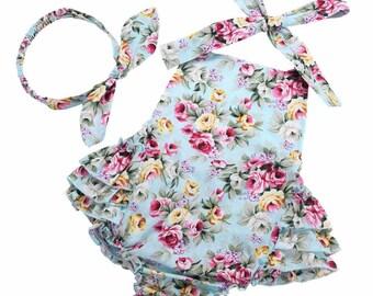 Summer newborn baby girl clothes infant suspenders