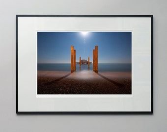 Straight down the middle - a moonlit, long exposure of the West Pier, Brighton