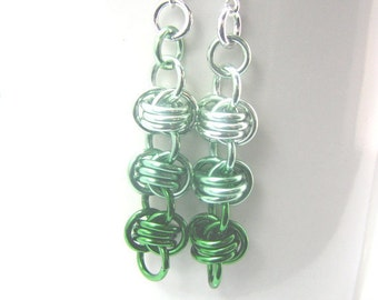 ON SALE Brilliant Barrels Chainmaille Ombre Earrings - Colorfalls Collection