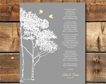 Lyrics wall art etsy song lyrics wall art wedding song lyric art anniversary gift personalized wedding gift stopboris Images