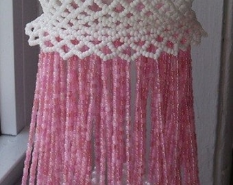 GIRLY, PEARLY, PINEAPPLE Lace Beaded Ornament Cover E-Pattern