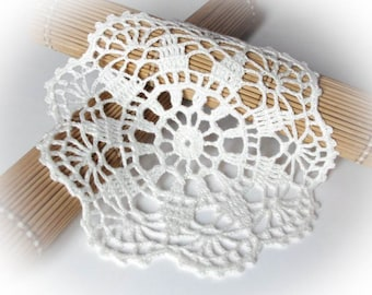 Crochet doily Small white lace doilies Linen crocheted doilies Lace doily crochet White crochet doily 56