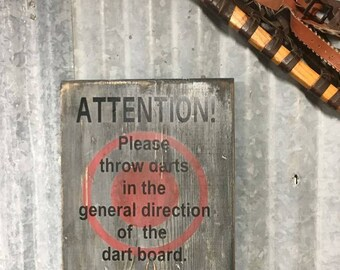 Dart Board sign