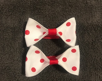Bows- pigtail set of two