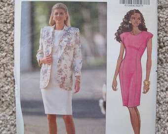 UNCUT Misses Jacket and Dress - Size 6 to 10 - Butterick Sewing Pattern 5445