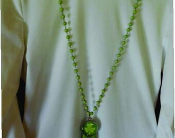 tassled pendent necklace