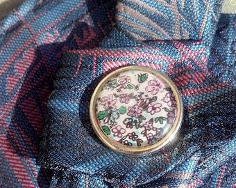 Collar tie violet/blue vintage