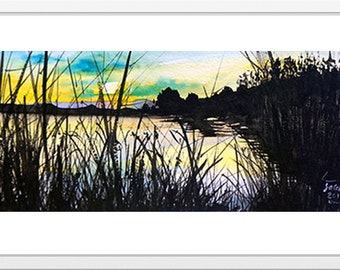 Watercolor lanscape by Mohsen Salehi
