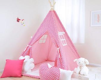 Cosmo Candy Pink / teepee for kids / kids teepee / children teepee / teepee tent / play teepee / toddler tent / play tent / kids tent