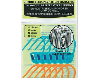 Clover Jumbo Locking Stitch Markers Part No. 3109