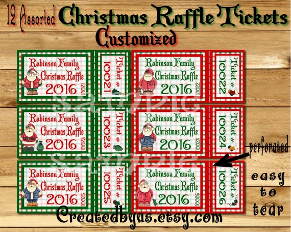 items similar to christmas party raffle tickets holiday