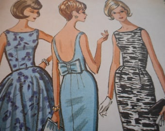 Vintage 1960's McCall's 7113 Dress Sewing Pattern Size 14 Bust 34