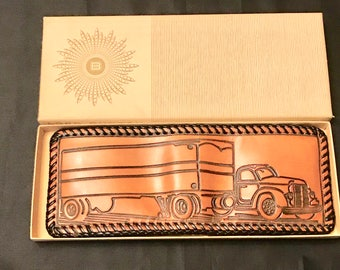 Lord Buxton leather bifold leather trucker tractor trailer wallet  new in box