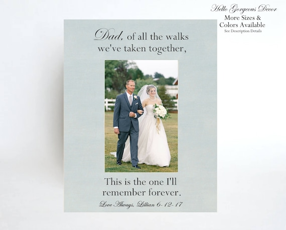 Father of Bride PICTURE FRAME Gift to Dad from Daughter on