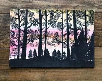 Original Woods Silhouette Dusk / Dawn