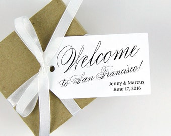 Welcome to (Destination) Tag - Event Tags - Wedding Welcome Tags - Welcome Gifts - Welcome Gift Tags - Welcome Bags - Custom Tags - LARGE