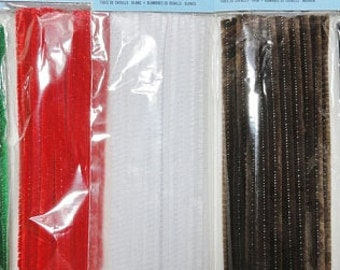 Pipe Cleaners, 2 Packs, Pipe Cleaner Crafts, Chenille Stems, Two Packs, 50 Pipe Cleaners